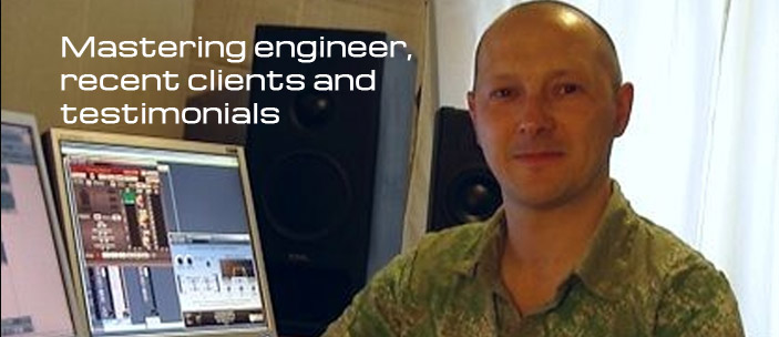 Mastering engineer clients